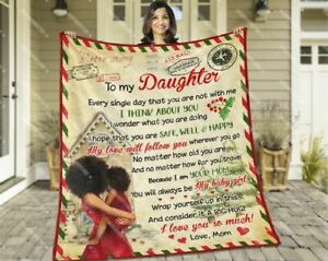 Personalized To My Daughter Letter Christmas Xmas Blanket Gift For Daughter