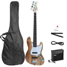 Gjazz Electric Bass Guitar w/ 20W Electric Bass Amplifier 3 Color Options