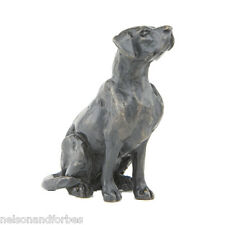 "Sue Maclaurin ""Sitting Labrador Maquette"" Solid Bronze Sculpture Nelson & Forbes"