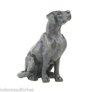 """Sue Maclaurin """"Sitting Labrador Maquette"""" Solid Bronze Sculpture Nelson & Forbes"""