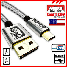 All Full Metal Micro USB Cable 2.0 Data Sync Fast Charger Samsung Android 6FT