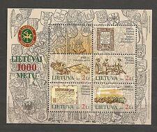 Lietuva Litauen MNH 2005 Mi 876-879 block 31 Sc 794a-d Millennium of Lithuania