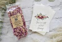 1 Litre Biodegradable Natural Petal Confetti Plus 20 Luxury Packets Bags
