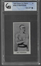 1938 KNOCK OUT RAZOR # 24 BOB FITZSIMMONS NM-MT 8 FAMOUS PRIZE FIGHTERS