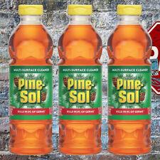 3 Pack Pine-Sol Multi Surface Cleaner Original Scent 24 Fl Oz Kills 99.9% Germs