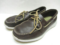 SPERRY TOP-SIDERS SOJOURN (12805) MENS 9.5M BROWN LEATHER LACE BOAT DECK LOAFERS