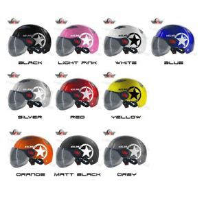 Roadriders Aidy Nut Shell Half Face Helmet With Visor - LIGHT PINK