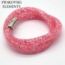 Bracelet collier pourssiere d'étoile Swarovski®Elements aimanté bois de rose