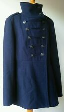 VERO MODA COAT denim blue nautical L UK10 See Measurements Excellent Condition