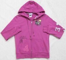 Disney Mickey Mouse Hooded Sweatshirt Purple Peace Love Small Long Sleeve Zip Up