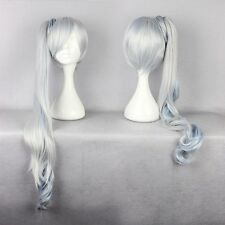 Clearance!!! RWBY White Weiss Schnee Long Straight Cosplay Hair Wig Ombre Wigs