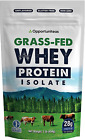 Grass Fed Whey Protein Powder Isolate - Unflavored - Low Carb Keto & Paleo Diet