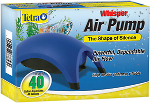 Whisper Easy to Use Air Pump for Aquariums, Fish Tanks Up To 100 Gal (Non-UL)