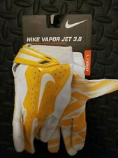 Nike Gloves Men's White/Yellow Receiver Gloves Large - New With Tags
