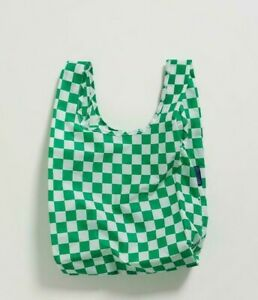 NWT Brand New BABY BAGGU Reusable Bag GREEN CHECKERBOARD SOLD OUT EVERYWHERE