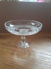 More details for beautiful large stuart crystal compote pedestal bowl 16cm x 22cm