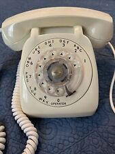 Vtg Automatic Electric Off White Rotary Desk Phone NorthLake Ill. Usa