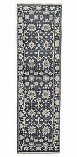 "Restoration Hardware Ayara Hand Knotted Blue Rug 2'9"" x 9' Wool $1295"