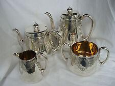 Stipulò & MORTIMER servizio da tè argento sterling London 1875/76