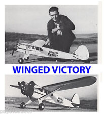 "Model Airplane Plans (FF): Vintage WINGED VICTORY 60"" by Elbert Weathers (1937)"