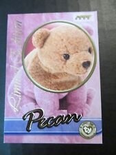 Ty Beanie Babies Series III S3 Limited Edition BBOC Pecan Tear A Bear Card