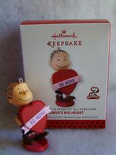 "New Hallmark Peanuts Valentine Be Mine Linus's Big Heart 2 1/2"" Ornament"