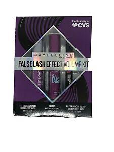 Maybelline False Lash Effect Volume Kit: Falsies Lash Lift, Mascara Eyeliner NEW