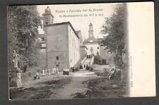 1910 pc Italy Piazza e Facciata Santuario di Montesenario to Miss Roth Firenze