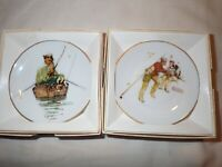 The Norman Rockwell Four Seasons Miniature Plate Collection lot of 2