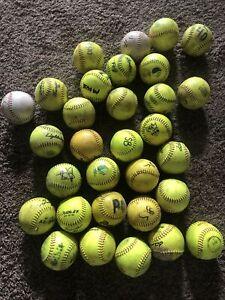 Softballs Lot Of 31