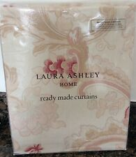 "Laura Ashley Baroque Vintage Style Curtains in Raspberry 64"" x 72"" / 162 x 183cm"