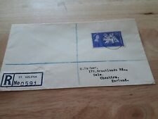 1963 ST HELENA TO UK COVER bx7