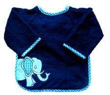 Playshoes Ärmel-Lätzchen, Frottee, Elefant, dunkelblau
