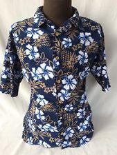 ODO brand Hawaiian Aloha Friday XL Shirt Floral Hibiscus Flowers Vintage USA