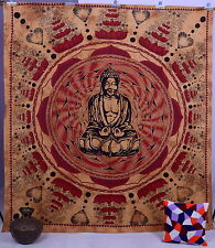 Indian Tapestry Meditation Buddha Hippy Wall Hanging Ethnic Bedspread Bed Sheet
