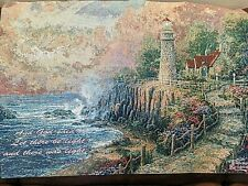 Thomas Kinkade The Light of Peace Woven w/Scripture Wall Tapestry