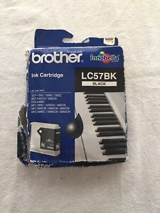 Genuine Brother Black LC57BK Ink Print Cartridge Authentic Original