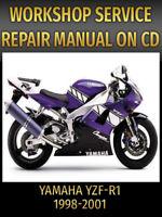 Yamaha YZF-R1 YZFR1 R1 Service Repair Manual 1998 1999 2000 2001 PDF on CD