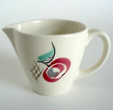 POOLE POTTERY RED PIPPIN 1/4 PINT CREAM JUG YU PATTERN 1950S VINTAGE RUTH PAVELY