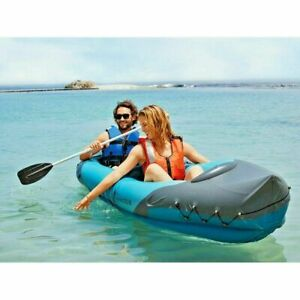 NEW Crivit 2-Person Inflatable Tandem Kayak Boat with Paddle