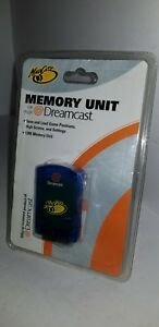 NEW Factory sealed Blue Mad Catz 128K Memory card  for Sega Dreamcast J27