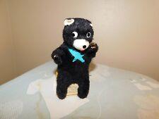 Bear Toy Vintage Non Working on Tin Milk Crate TLC