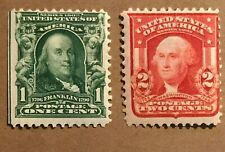 1903 Franklin and Washington Scott 300 & 319 MNH