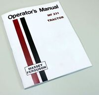 MASSEY FERGUSON MF 231 TRACTOR OWNERS OPERATORS MANUAL INSTRUCTION BOOK