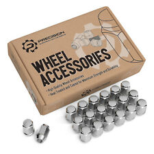 (20) 12x1.5 Bulge Chrome Lug Nuts | Acorn Cone Conical Seat Wheels | 19mm Hex