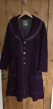 Bohemia Sweden Steampunk Goth Purple Quirky Wool Mix  Coat M