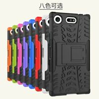 Rugged Hybrid Armor Shockproof Hard Case Stand Cover For Sony Xperia XZ1 Compact