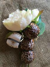 Napkin Holders, Hand carved Tortoise shells vintage