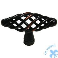 "Cabinet Knob Birdcage Knobs Oil Rubbed Bronze 2-3/8"""