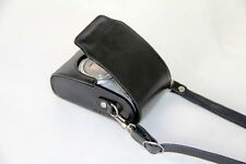 black leather case bag for Canon ELPH 170 IS, 160, IXUS 170, 165, 160 camera